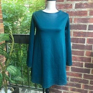 Zara Trafaluc Fall Winter Collection Green Dress S